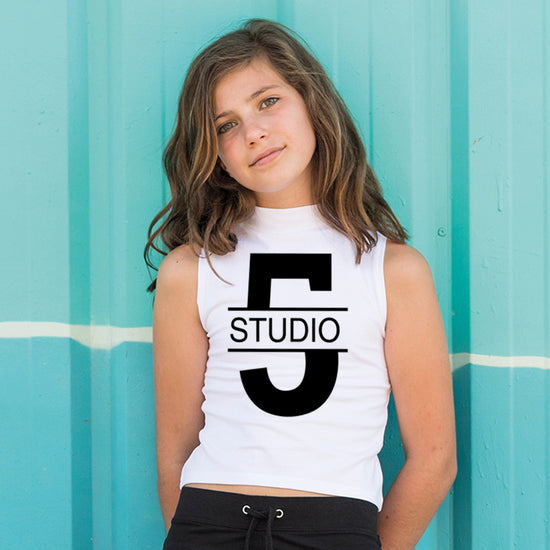 Studio 5 - SM170 Kids high neck crop vest