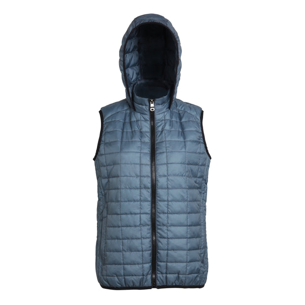 Women's honeycomb hooded gilet