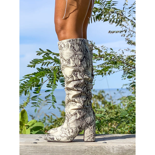 Brook | Snake Skin Boot