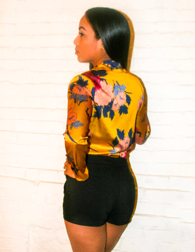 Finish | Floral Print Bodysuit