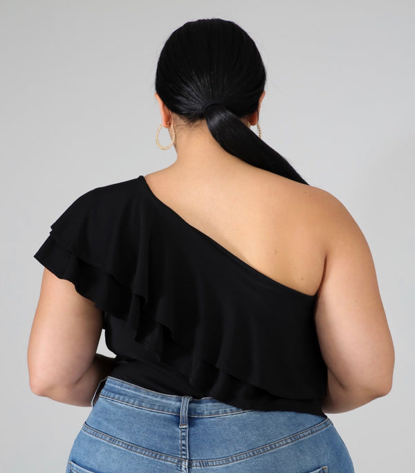 Ruffle | Bodysuit Plus Size