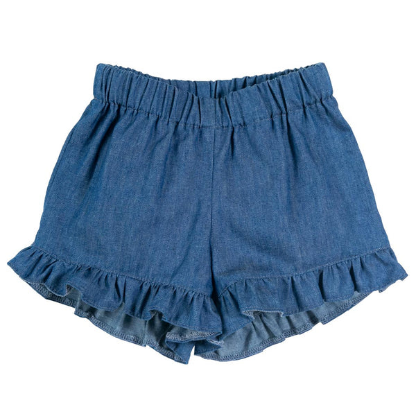 Denim Ruffle Short