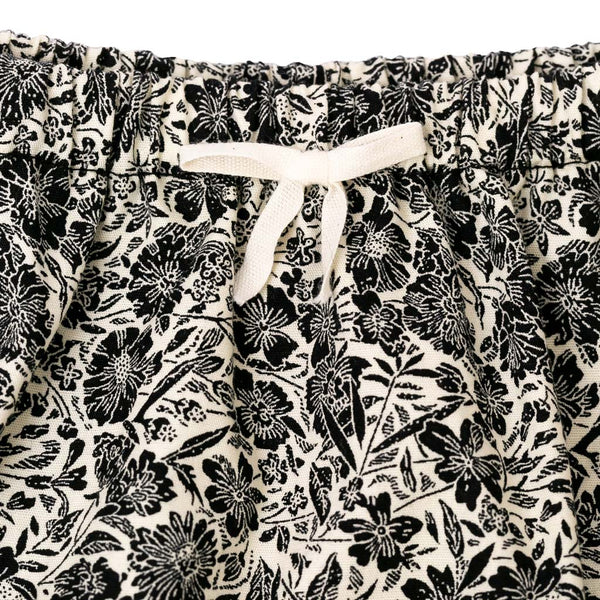 Floral Bloomer - Black & White