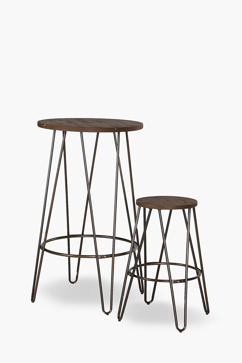 replica hairpin metal bar table galvanised mad chair company