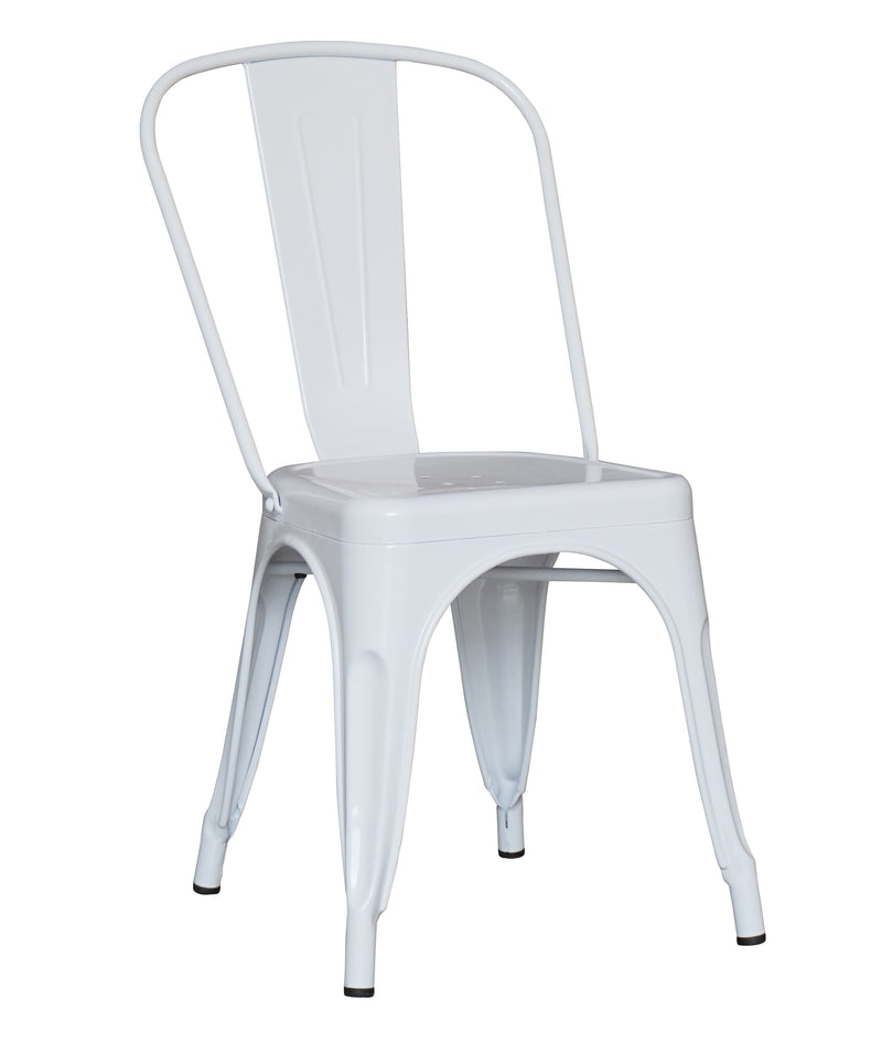 replica metal tolix Dining Chair white mad chair company