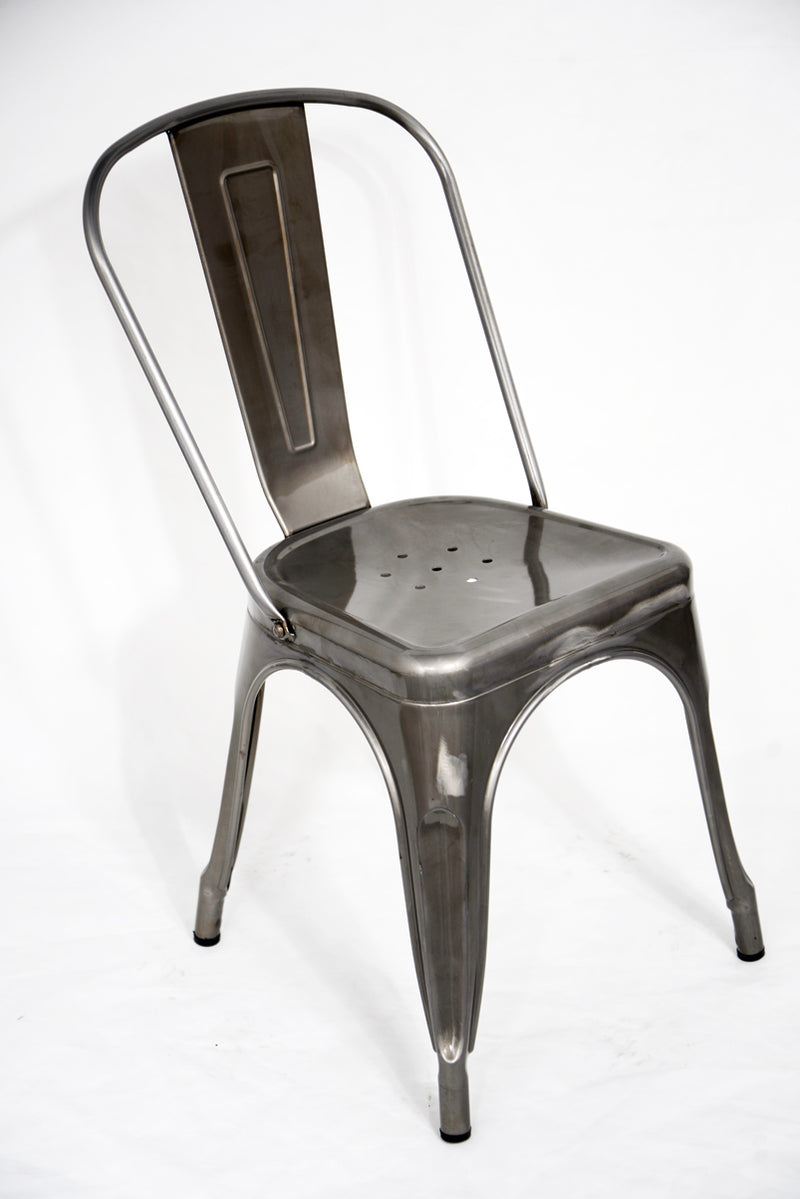 replica metal tolix Dining Chair galvanised mad chair company