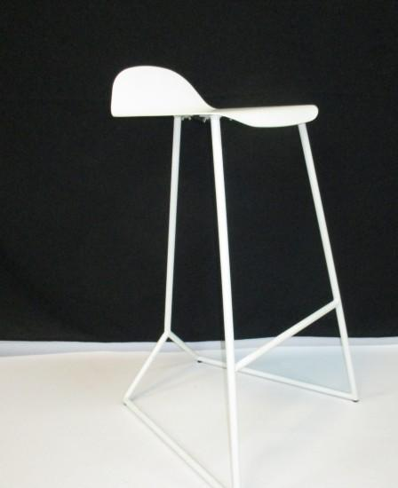 Jimmy Sleigh Barstool WHITE MAD CHAIR COMPANY