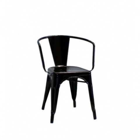 replica metal tolix arm chair black mad chair company