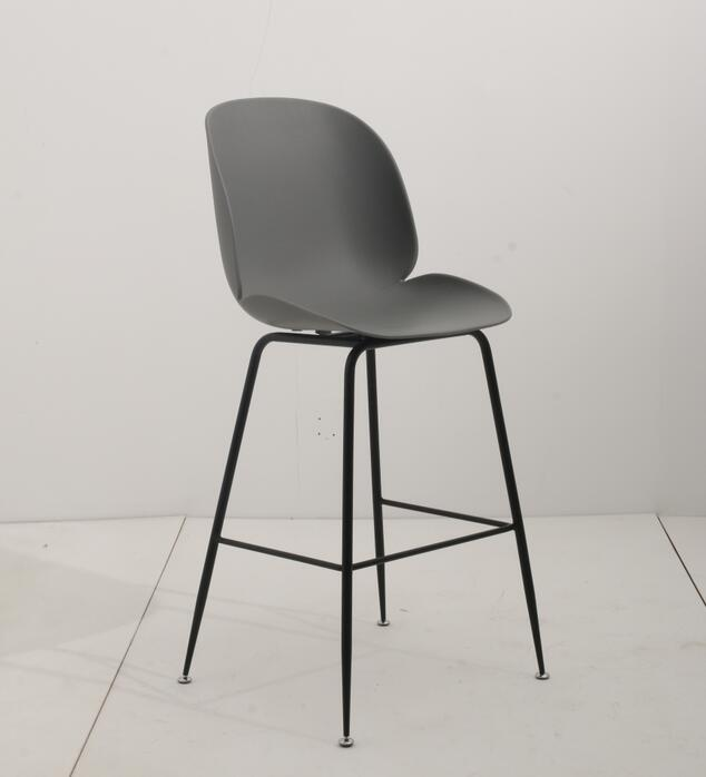 Replica Beetle Kitchen Stool - 66cm Matt Black Leg