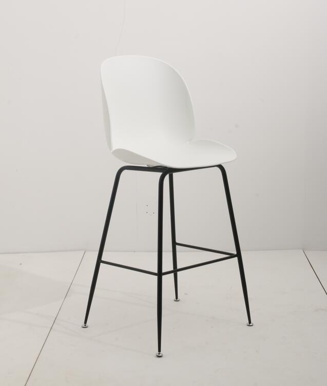 Replica Beetle Kitchen Stool - 66cm Matt Black Leg MAD CHAIR COMPANY