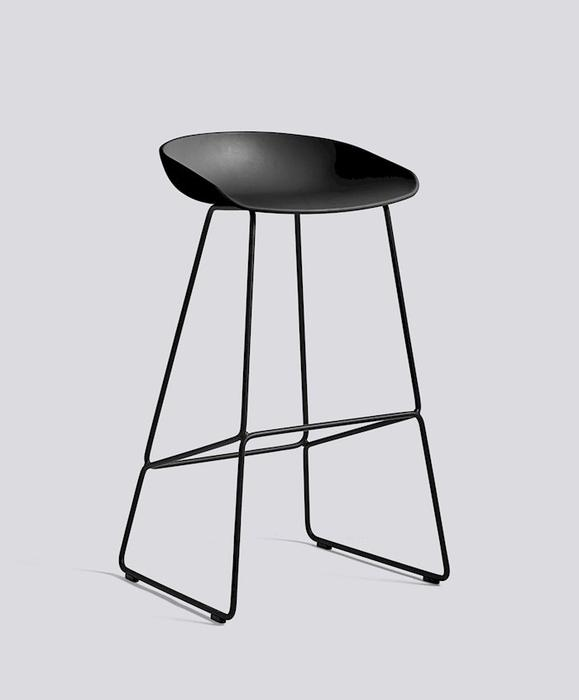 Replica Hay Kitchen Stool - 66cm Chrome & Black Leg Mad chair company