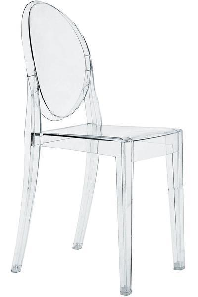 Replica Ghost Side chair Clear Mad chair Company