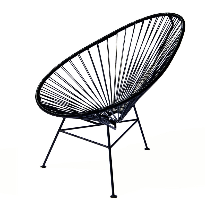 Replica Acapulco Chair Kids Black Mad chair Company
