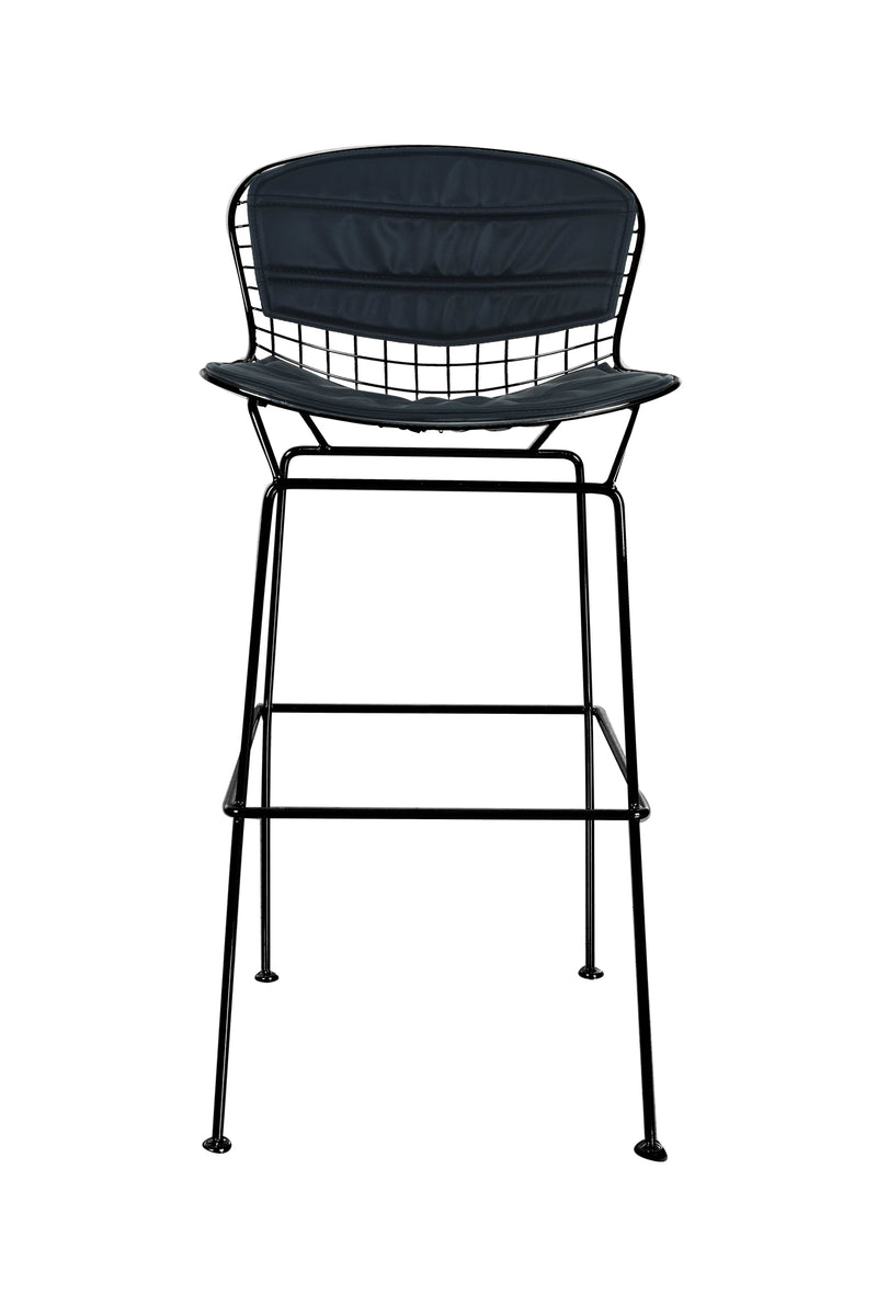 Replica Harry Bertoia Wire Barstool - 76cm seat height Black Mad chair Company