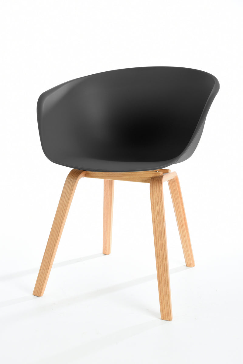 replica hay wood chair black plastic  mad chair company