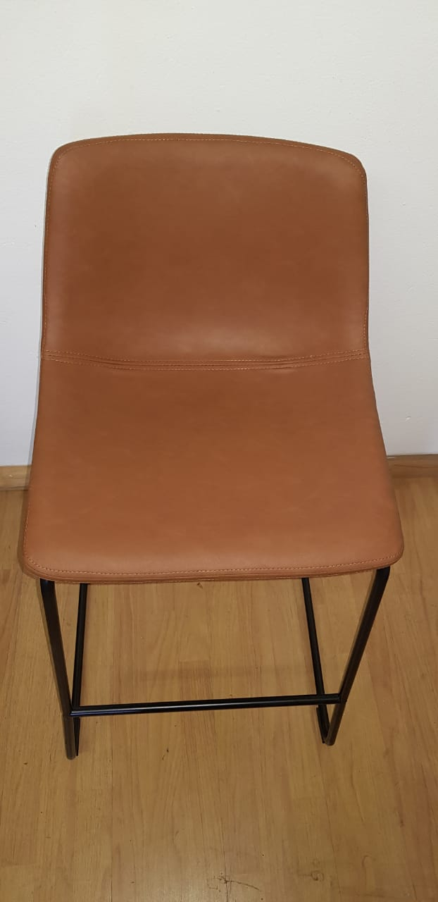 Vintage Sleigh Chair Brown Mad Chair Company
