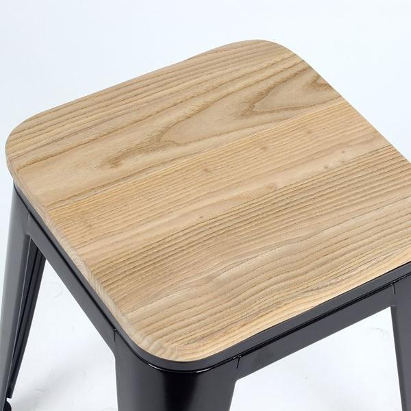 Replica Tolix side chair - Wood Seat