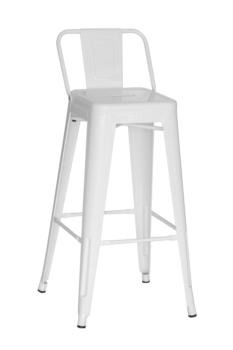 Replica Tolix Bar Stool With Low Back Rest