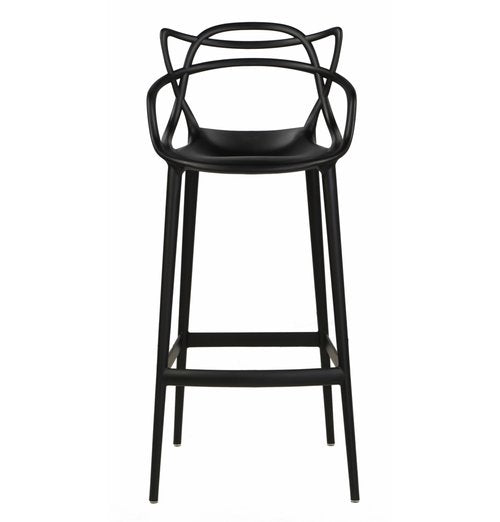 replica masters bar stool black plastic mad chair company