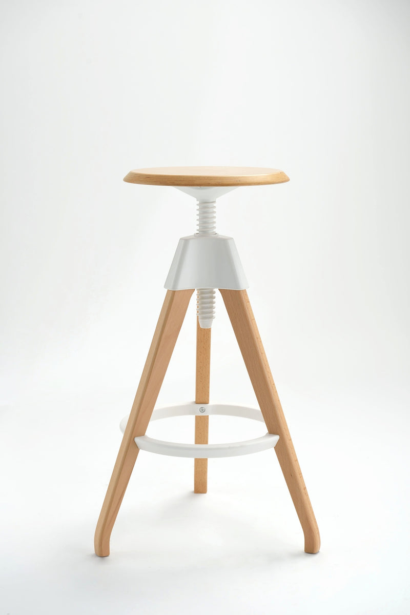 Replica Screw adjustable barstool mad chair company white