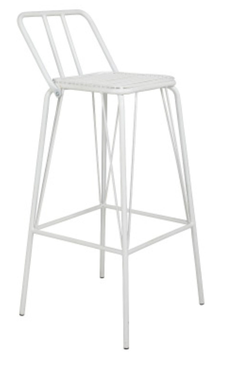 Jackson Wire Barstool - 76cm seat height White mad chair company