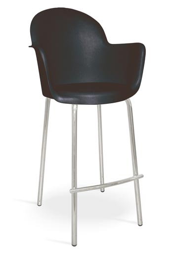 moon bar stool black metal/plastic mad chair company