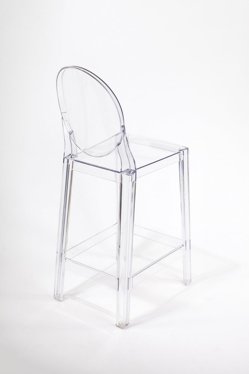 replica plastic victoria ghost barstool clear mad chair company