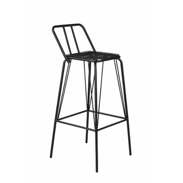 Jackson Wire Barstool - 76cm seat height BLACK mad chair company
