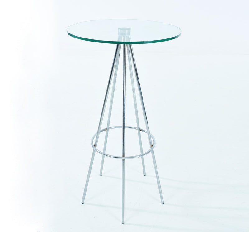 Pyramid Bar Table - Round Glass Top Mad Chair Company