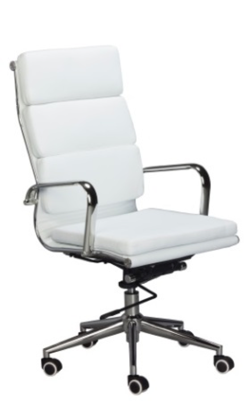 Replica Eames High Back Padded Office Chair - PU Mad Chair Company