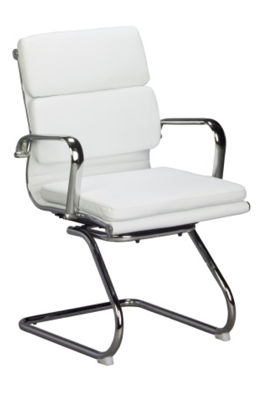 Replica Eames Padded Visitor Chair - PU Sleigh Base Mad Chair Company
