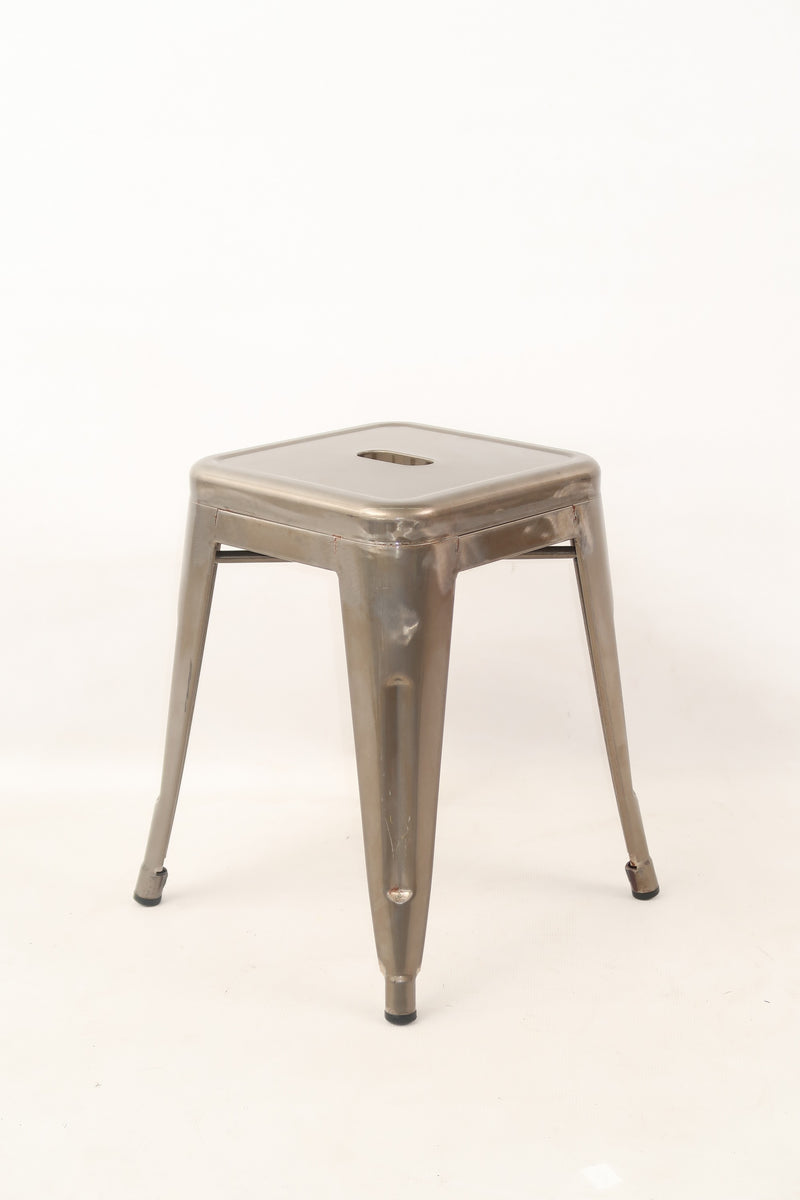 replica metal tolix low stool galvanised mad chair company