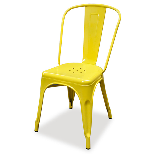 replica metal tolix Dining Chair yellow mad chair company