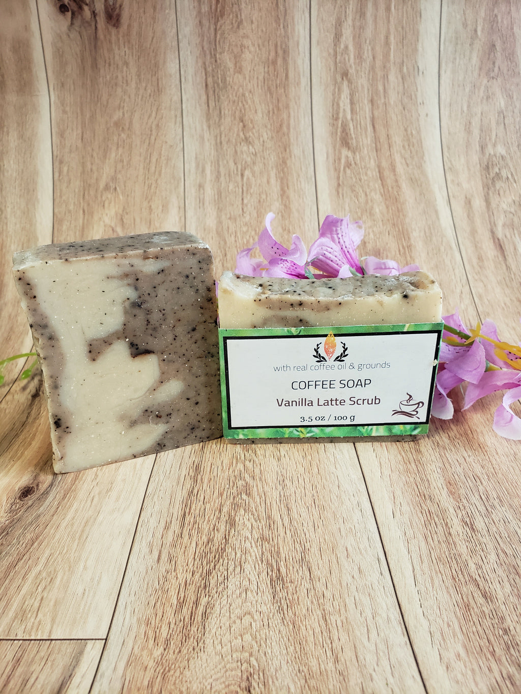 Coffee scrub natural soap