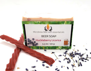 Beer Soap, Huckleberry Licorice
