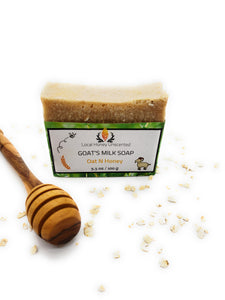 Goat's Milk Soap, Oat & Honey Unscented