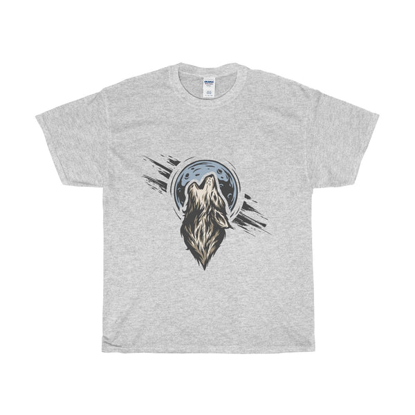Heavy Cotton T-Shirt - Lonely Wolf Design