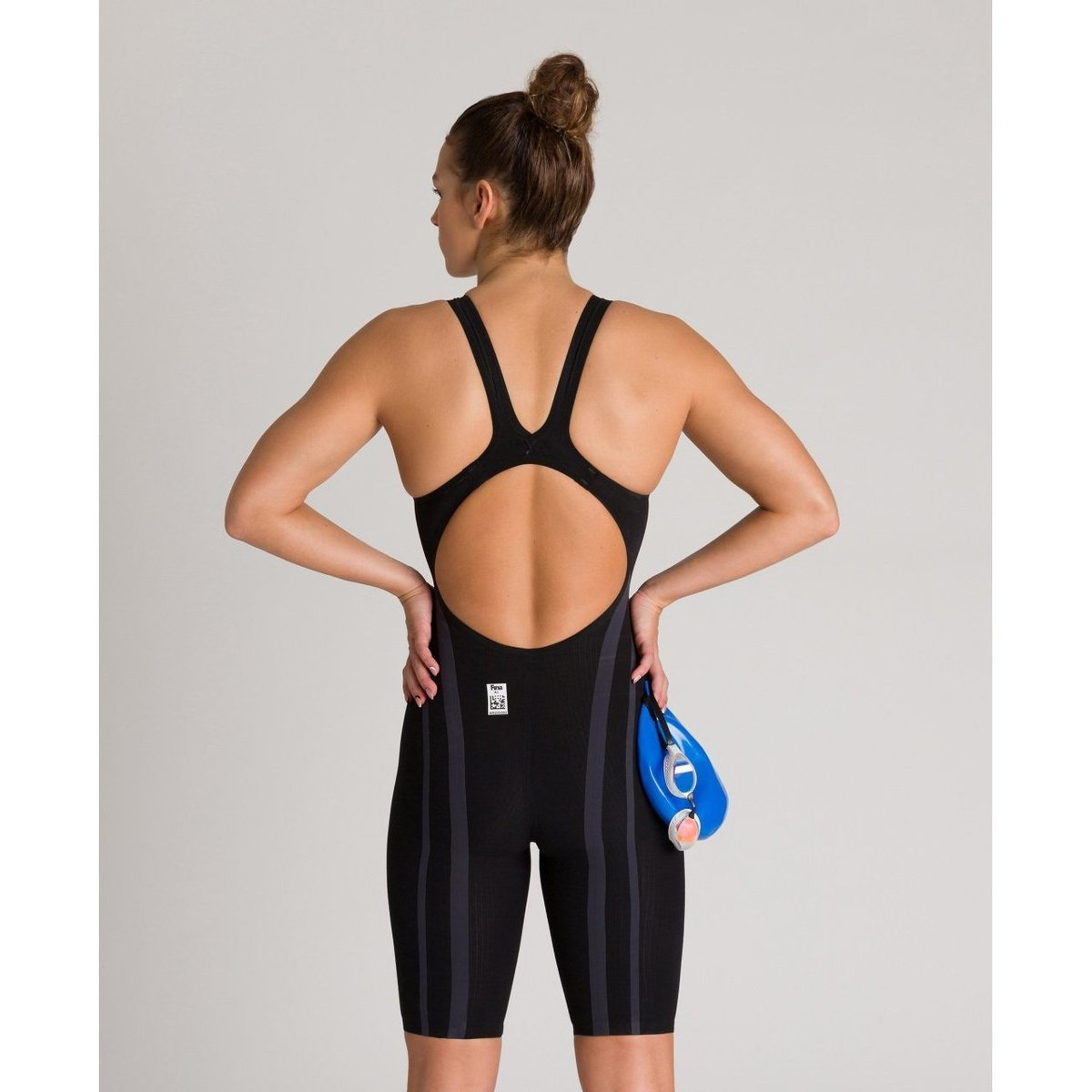 ARENA POWERSKIN Carbon Core FX Women's Open Back - Black-Gold-TechSuits.ca