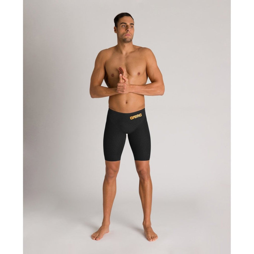 ARENA POWERSKIN Carbon Glide Men's Jammer - Black-Gold-TechSuits.ca