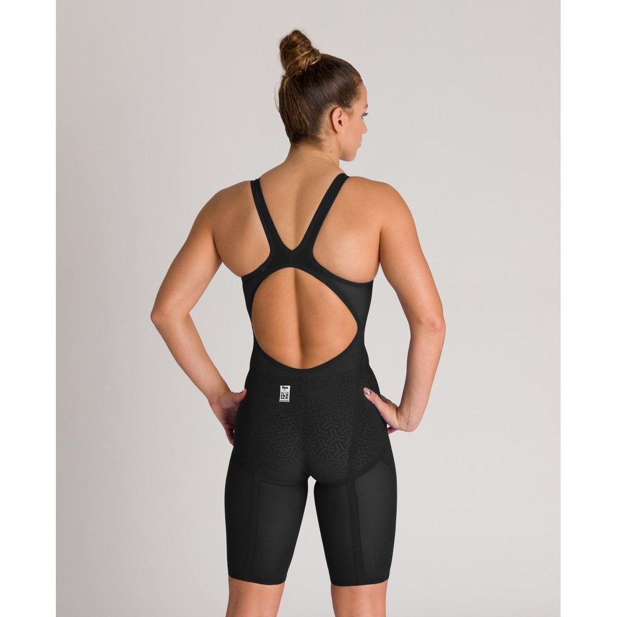 ARENA POWERSKIN Carbon Glide Women's Open Back - Black-Gold-TechSuits.ca