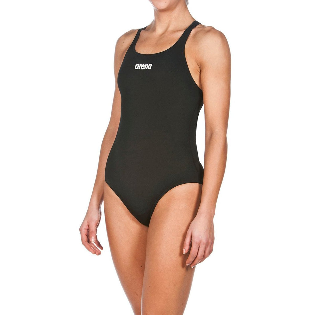 ARENA Training Solid Female Swim Pro - Red, Black, Navy-TechSuits.ca