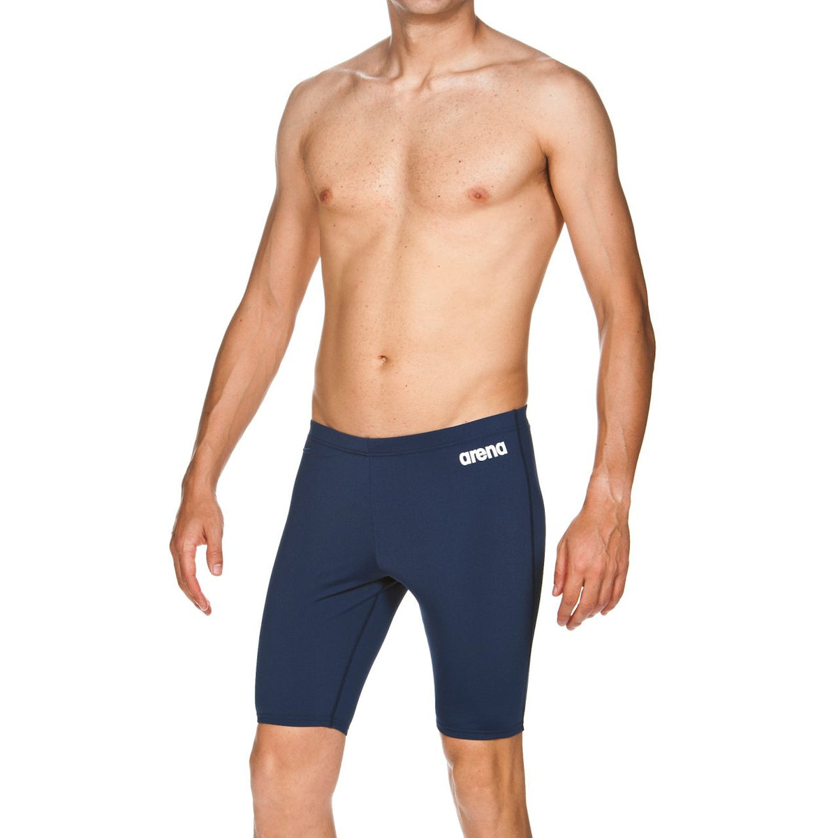 Arena Training - Solid Men's Jammer - Black, Navy-TechSuits.ca