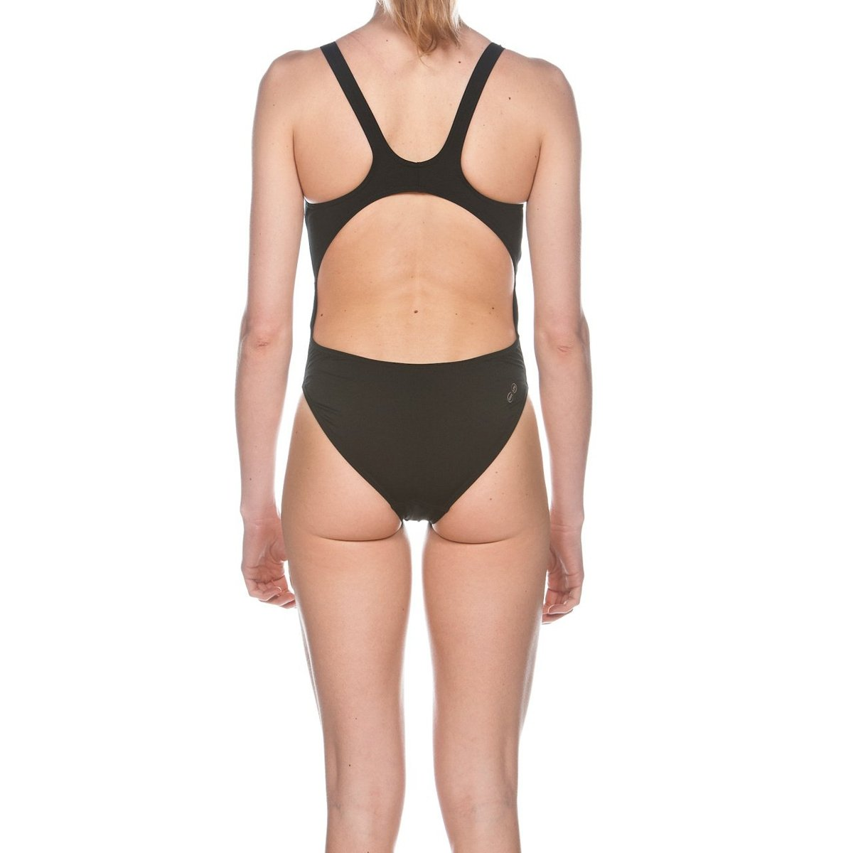 ARENA Training Women's Solid Swim Tech High Leg - Black, Navy-TechSuits.ca