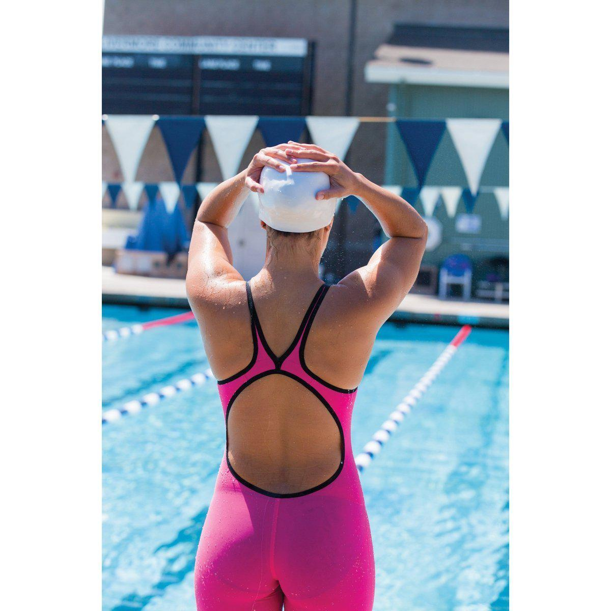 FINIS Fuse Women's Open Back Kneeskin - Pink, Blue-TechSuits.ca
