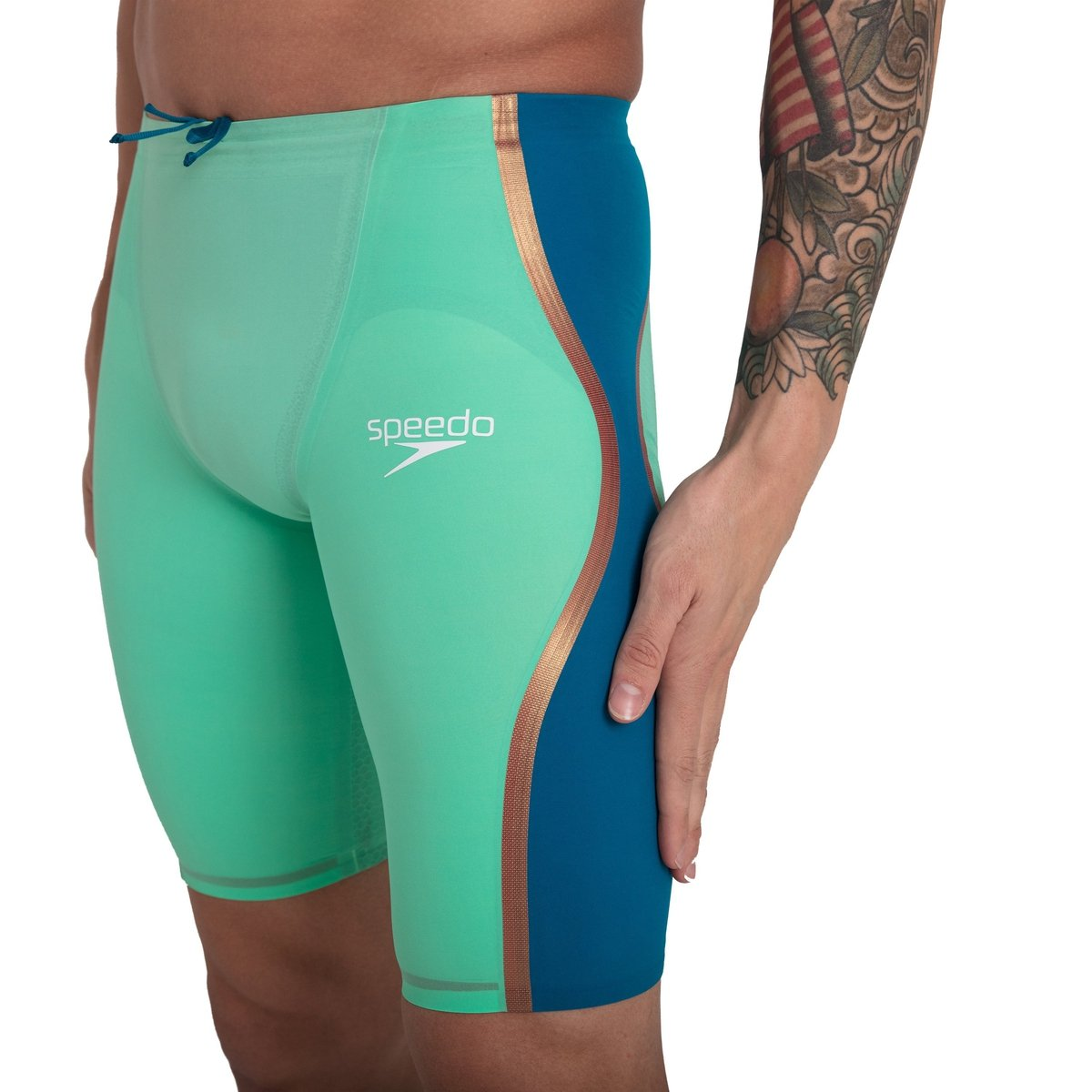 SPEEDO Fastskin LZR Pure Intent Men's Jammer - Green Glow (size 20 & 28)-TechSuits.ca