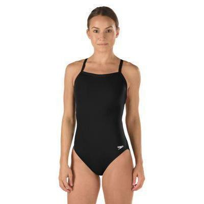 SPEEDO Solid Flyback Women & Girl's Training Suit - Endurance + (Black)-TechSuits.ca