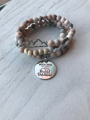 Difficult roads...amazing destinations diffuser bracelet stack