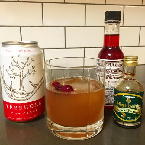 An Old-Fashioned Belle cocktail recipe from Treehorn Cider