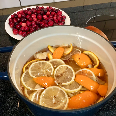 Prepping pickling liquid for cranberries