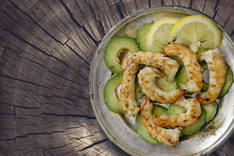 A shrimp avocado dish